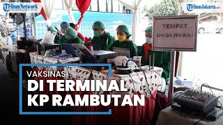 Ribuan Pekerja Sektor Transportasi Ikuti Vaksinasi Covid-19 di Terminal Kampung Rambutan