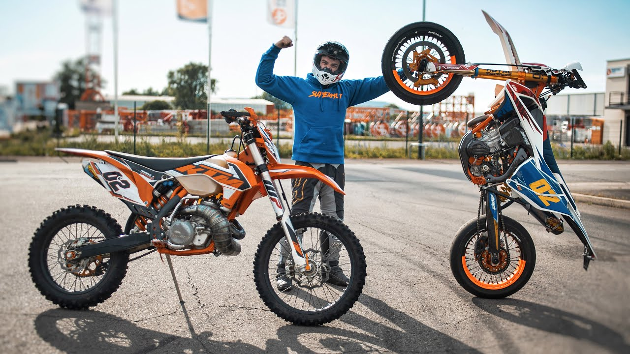 WHEELINGS EN KTM ! 500 2T & 500 4T