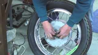 Restoring Moto Guzzi Police Wheels with Dave Moore in 2007
