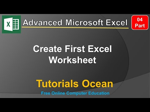 Part 4 Advanced Microsoft Excel Course Create First Excel Worksheet in Urdu/Hindi – Tutorials Ocean