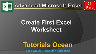 Part 4 Advanced Microsoft Excel Course Create First Excel Worksheet in Urdu/Hindi – Tutorials Ocean