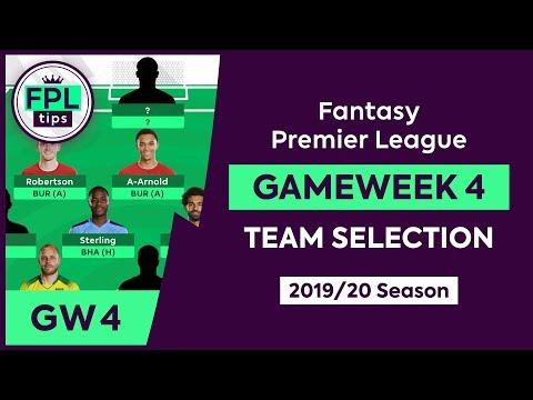 GW4: FPL TEAM SELECTION | Gameweek 4 | Fantasy Premier League Tips 2019/20