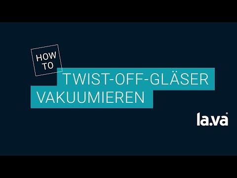 Twist-Off Glas mit einem Lava vakuumieren