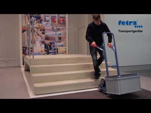 Fetra Stahlrohr-Treppenkarre, mit dreiarmigen Radsternen, Schaufelbreite 320mm-youtube_img