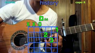 history one direction guitar chords