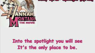 Miley Cyrus- Spotlight [Lyrics] (HQ)