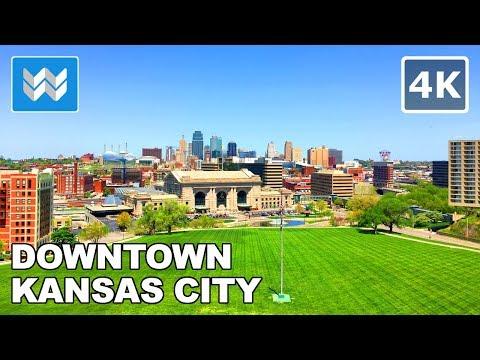 Walking around Downtown Kansas City, Missouri 【4K】