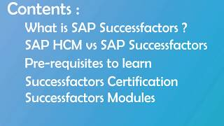 SAP Successfactors Employee Central Training Online Videos 1 Call: +91-8297923103