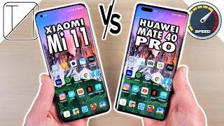 Xiaomi Mi 11 vs Huawei Mate 40 Pro Speed Test