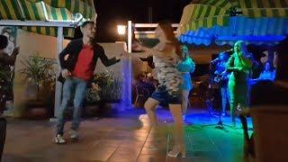 Сальса под живую музыку в ресторане на крыше отеля. Куба, Гавана. Дмитрий Лунев, Джамила Завгородняя