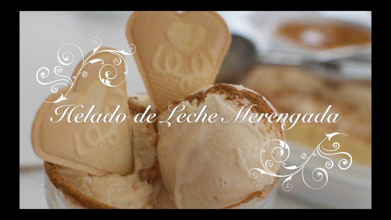 Helado de leche merengada | Helado Casero | Como hacer helado de leche merengada | Leche merengada
