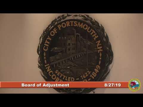 Board of Adjustment 8.27.2019