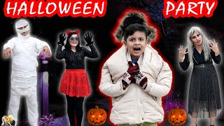 HALLOWEEN PARTY with family | Makeup and party ideas | Family Comedy | Aayu and Pihu Show