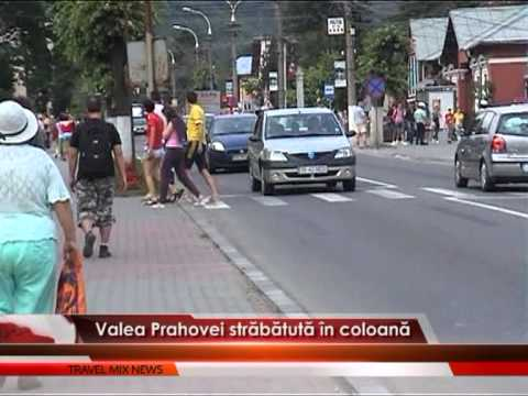 Valea Prahovei străbătută în coloană