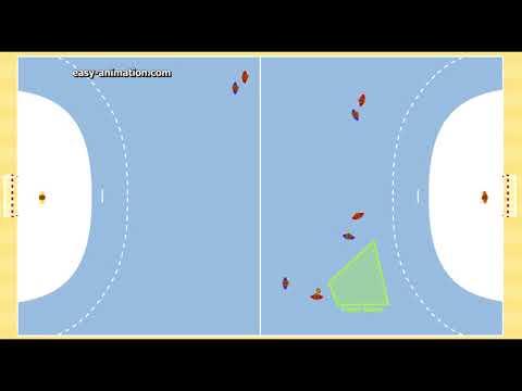 Spieleröffnung Halle in 2-2 System über außen 1