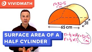 Surface Area Of A Half Cylinder - VividMaths.com