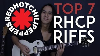 Mix - Top 7 Red Hot Chili Peppers Guitar Riffs - Guitar Tutorial Lesson
