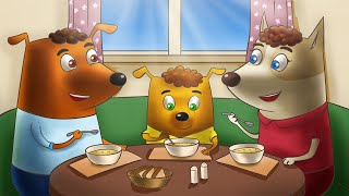 Мотивирующие Мультики для детей - Гав гав - Бублик и Кисточка ищут Клад. Семейка собачек для ребенка