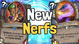 Nerfs to Giggling Inventor, Mana Wyrm, & Aviana Reviewed - Hearthstone
