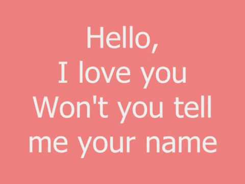Hello, I love you- Glee Cast (Finn)