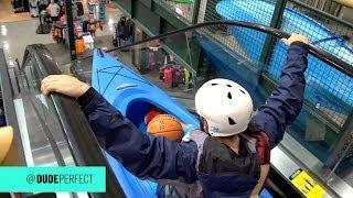 Kayaking Down an Escalator