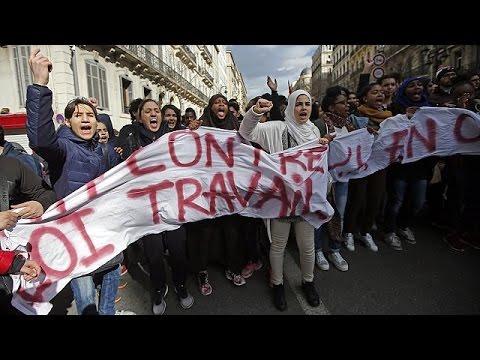Γαλλία: Νέες μαθητικές κινητοποιήσεις κατά της μεταρρύθμισης στα εργασιακά