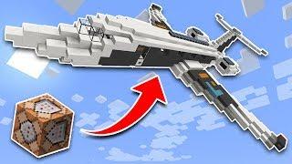 WORKING PLANE in Minecraft Pocket Edition Using Command Blocks!