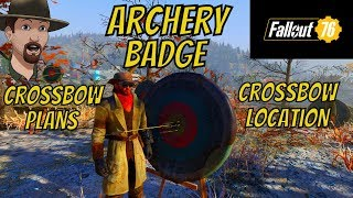 Fallout 76- How to Tadpole Archery Badge/ Crossbow Plan and Crossbow location