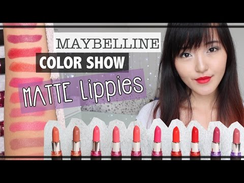 NEW! Maybelline Color Show MATTE Lippies ♡ Review + Swatch