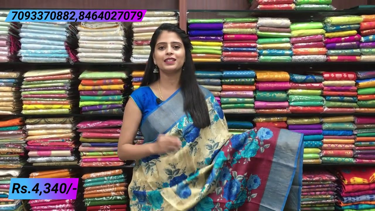 """<p style=""""color: red"""">Video : </p>Tussar Silk Sarees Collections