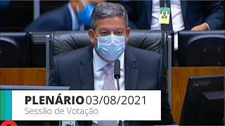 PLENÁRIO - Sessão para a votação de propostas legislativas - 03/08/2021 15:00