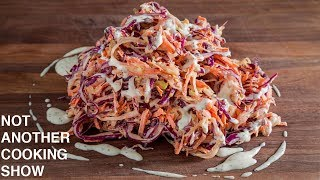 How To Make CREAMY COLESLAW From Scratch