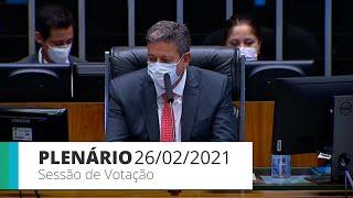 Plenário - Sessão para a votação de propostas legislativas - 26/02/2021 10:00