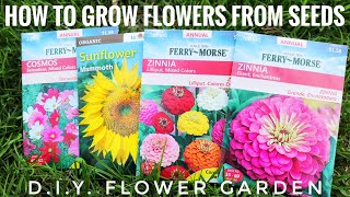 Plant With Me | How To: Grow Flowers From Seeds | D.I.Y. Flower Garden