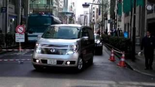 石原慎太郎東京都知事と専用公用車Tokyogovernorsmotorcade