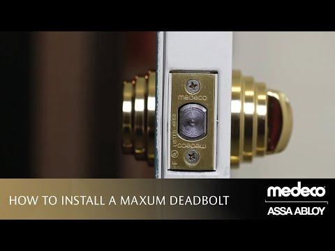 How To Install A Medeco Maxum Deadbolt
