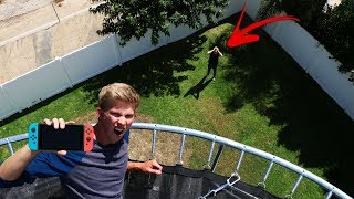 I Threw my Brothers Mystery Items OFF 10 Story Trampoline Tower!!