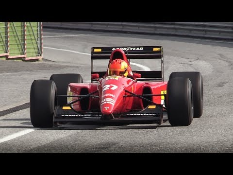 1992 Ferrari F92A F1 V12 Sound at Imola Circuit - Accelerations & Fly Bys!