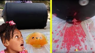 Crushing Crunchy & Soft Things! - Floral Foam, Squishy, Tide Pods and More!