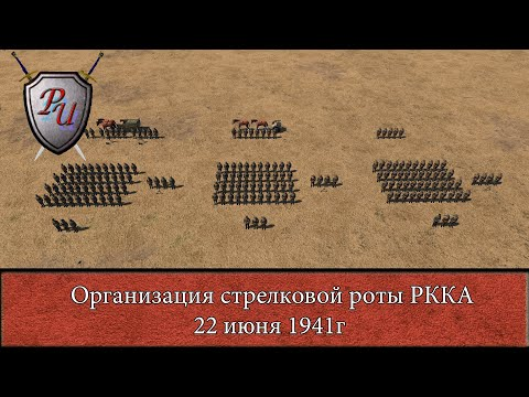 Структура стрелковой роты РККА 22 июня 1941г