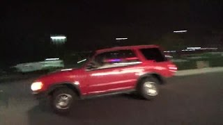 3. Gang Stalking Target Comes Out of Petco/Person in RED/RED SUV there - 3/28/2015