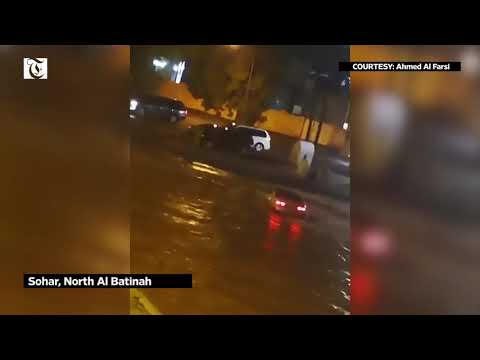 Oman weather: Cars washed away in Sohar