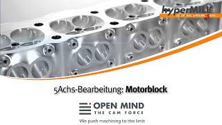 5-Achs-Bearbeitung: Motor gefräst auf einer DMG
