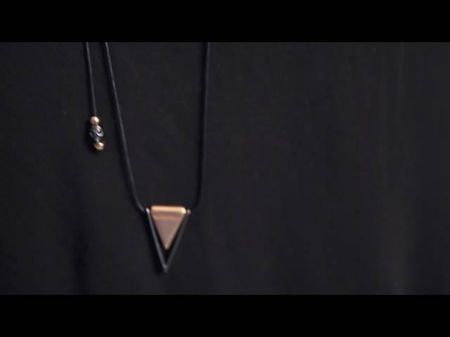 Gold Cross stone Necklace with Black Zamak Skulls