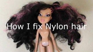 How I Fix Nylon Hair On Dolls