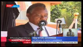 Amb.Wamaithai sworn in as new Nyeri Governor