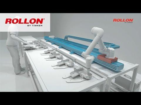 Die 7. Achse von ROLLON - Zum Verfahren von Robotern & schweren Lasten