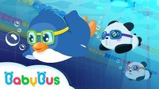 Baby Panda Sports - Swimming   Animation For Babies   BabyBus