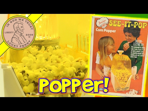 Junior Chef See-It-Pop Kids Popcorn Popper Maker - Crunchy & Buttery!