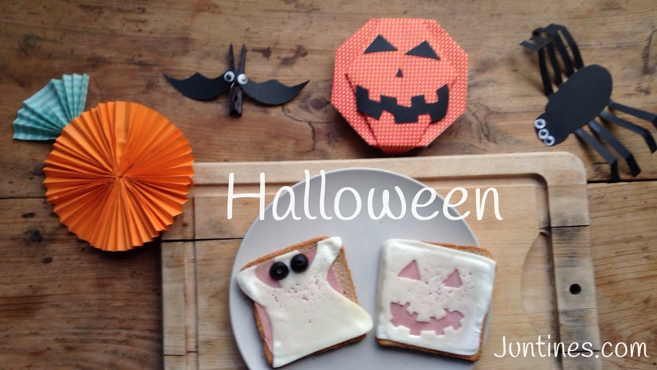 Recetas de Halloween: Sandwich en forma de monstruo